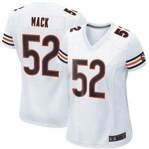 NEW NFL Women's 52# Khalil Mack Nike White jersey